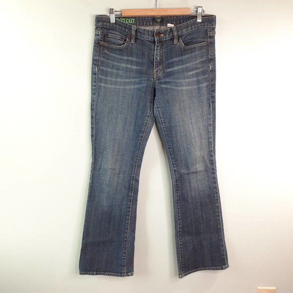 J Crew Bootcut Stretch Denim Jeans Size 31